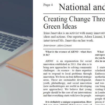 Intervistë me Irinën për Nova Times image